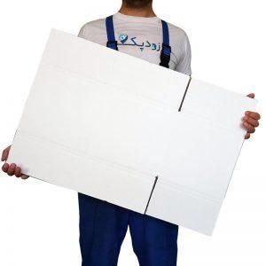 کارتن پنج لایه با روکش سفید