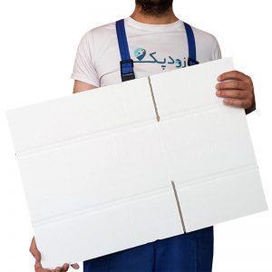 کارتن سه لایه با روکش سفید